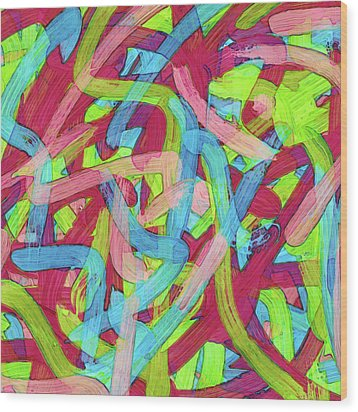 Untitled -c- Soup Wood Print by Coded Images