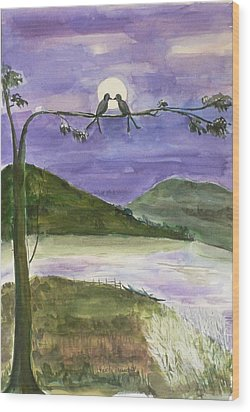 Wood Print featuring the painting Untitled by Geeta Biswas