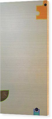 Wood Print featuring the painting  C 300  24 X 48 2013 by Radoslaw Zipper