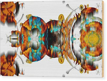Wood Print featuring the digital art Untitled Series 992.042212 -b by Kris Haas
