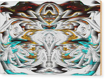 Wood Print featuring the digital art Untitled Series 992.042212 by Kris Haas