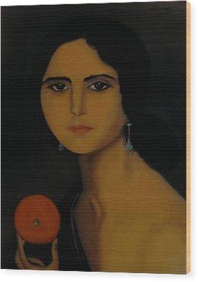 Untitled Woman With Orange Wood Print