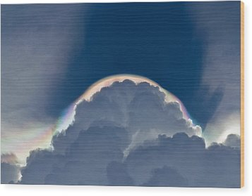 Unusual Cloud Formation Wood Print
