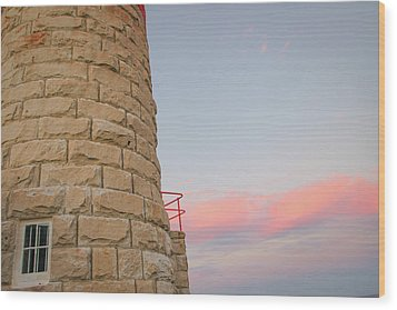 Close-up Detail Of The Cape Moreton Lighthouse Wood Print