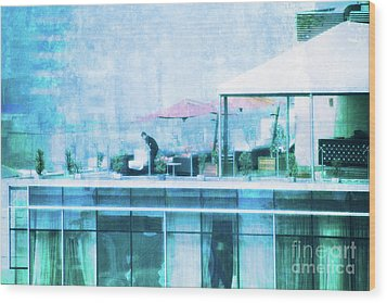 Wood Print featuring the digital art Up On The Roof - II by Mary Machare