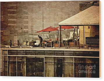Wood Print featuring the photograph Up On The Roof - Miraflores Peru by Mary Machare