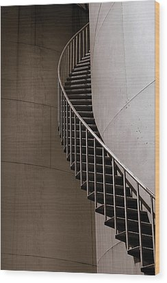 Wood Print featuring the photograph Up The Down Stairs by Irma BACKELANT GALLERIES
