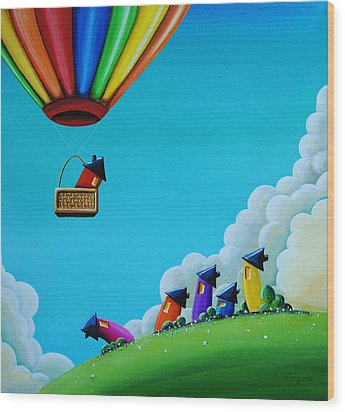 Up Up And Away Wood Print by Cindy Thornton