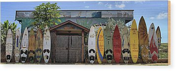 Upcountry Boards Wood Print by DJ Florek