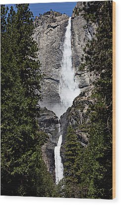 Upper And Lower Yosemite Falls Wood Print by Garry Gay