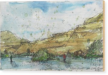 Upper Flats On The San Juan Wood Print