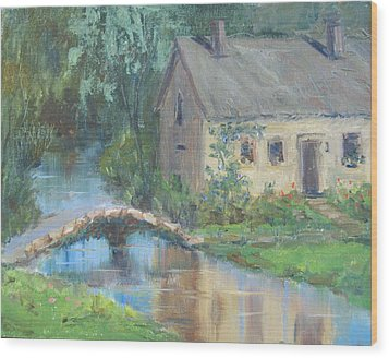 Upper Slaughter - England Wood Print by Elaine Monnig