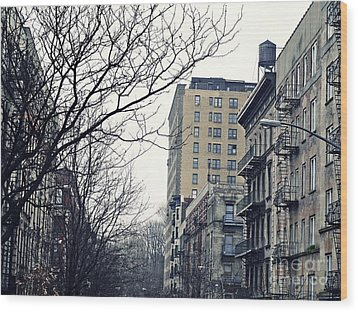 Upper West Side Winter Wood Print by Sarah Loft