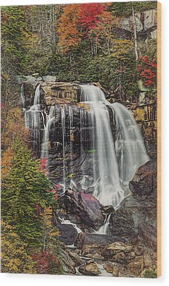 Wood Print featuring the photograph Upper Whitewater Falls North Carolina by Bellesouth Studio
