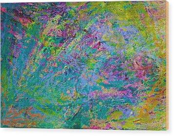 Uprising Color Poem Wood Print