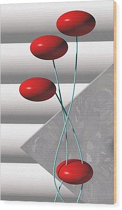 Ups N Downs Wood Print by Richard Rizzo