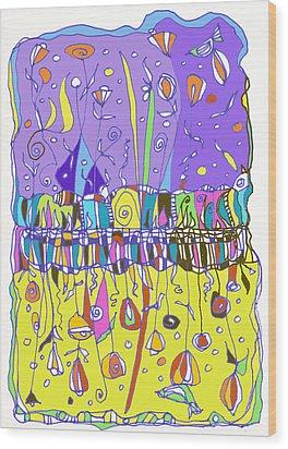 Upside Down Garden Wood Print by Linda Kay Thomas