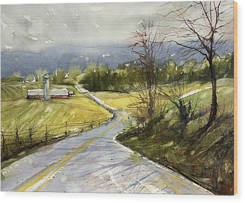 Upstate Landscape Wood Print by Judith Levins