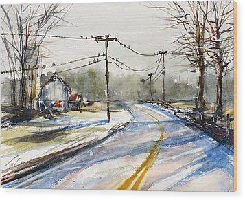 Upstate Ny Sunday Drive Wood Print by Judith Levins
