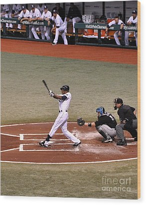 Upton At The Plate Wood Print by John Black