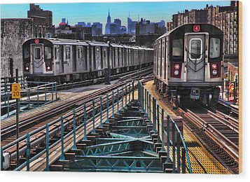 Uptown And Downtown Wood Print by June Marie Sobrito