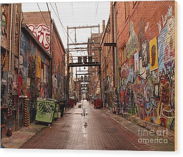Urban Art Wood Print