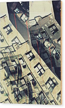 Urban Distress Wood Print by Sarah Loft