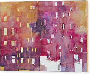 Urban Landscape 3 Wood Print by Alessandro Andreuccetti