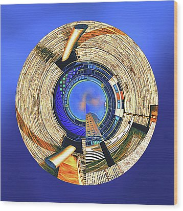 Wood Print featuring the digital art Urban Order by Wendy J St Christopher
