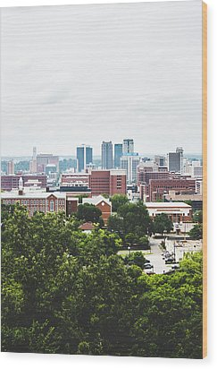 Wood Print featuring the photograph Urban Scenes In Birmingham  by Shelby Young