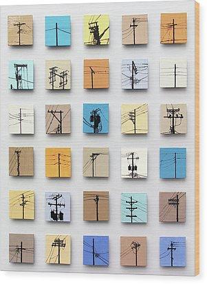 Urban Sentinels Wood Print by Jason Messinger