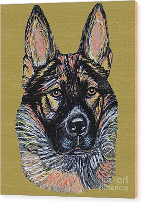 Wood Print featuring the painting Urlike Gsd by Ania M Milo