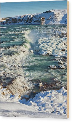 Wood Print featuring the photograph Urridafoss Waterfall Iceland by Matthias Hauser