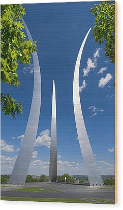 U.s. Air Force Memorial Wood Print