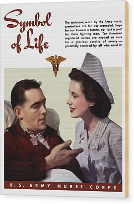 Us Army Nurse Corps Wood Print by War Is Hell Store