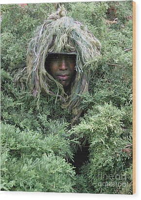 U.s. Army Soldier Demonstrates The Use Wood Print by Stocktrek Images