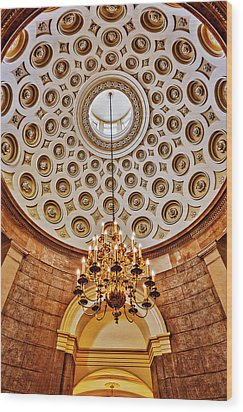 Wood Print featuring the photograph Us Capitol Rotunda Washington Dc by Susan Candelario