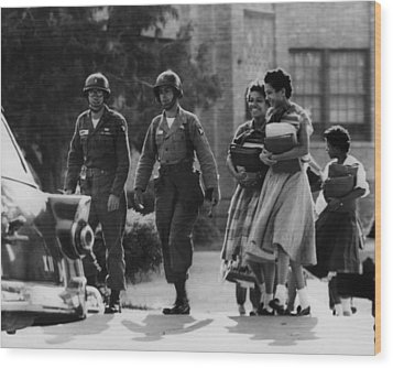Us Civil Rights. Paratroopers Wood Print by Everett