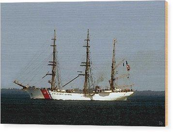 U.s. Coast Guard Eagle Wood Print by David Lee Thompson