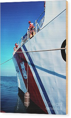 Us Coast Guard  Wood Print by Thomas R Fletcher