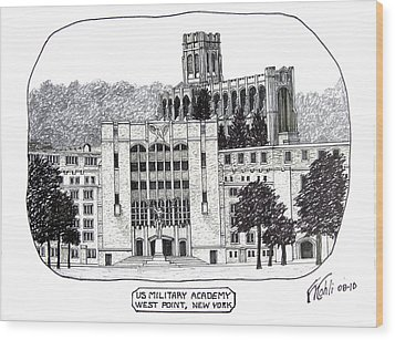 Us Military Academy At West Point Ny Wood Print by Frederic Kohli