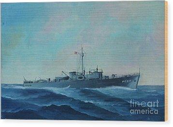 Us Navy Ship Pc577 Wood Print by John Black