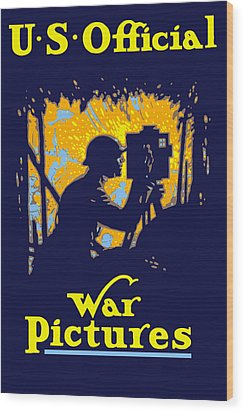 U.s. Official War Pictures Wood Print by War Is Hell Store