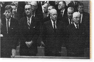 Us Presidents. From Left Us President Wood Print by Everett