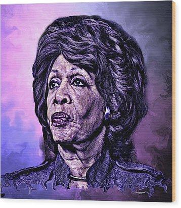 Us Representative Maxine Water Wood Print