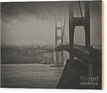 U.s. Route 101 Wood Print by Alessandro Giorgi Art Photography