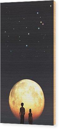 Us Wood Print by Timothy McPherson