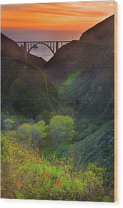 Usa, California, Big Sur, Bixby Bridge Wood Print by Don Smith