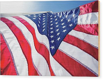 Usa,american Flag,rhe Symbolic Of Liberty,freedom,patriotic,hono Wood Print