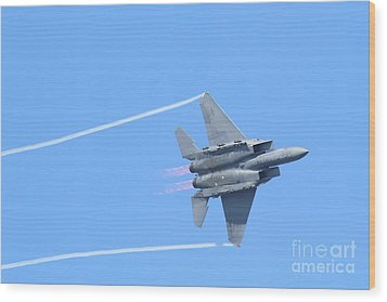 Usaf F-15 Strike Eagle . 7d7864 Wood Print by Wingsdomain Art and Photography